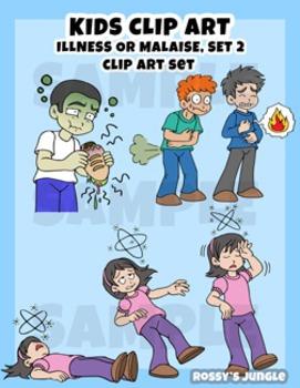 Kids Clip art: Illness or Malaise set 2 (June 2016)