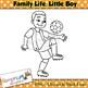 Kids Clip art, Little Boy