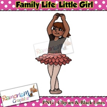 Kids Clip art, Little Girl