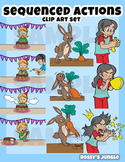 Kids Clip art: Sequenced actions