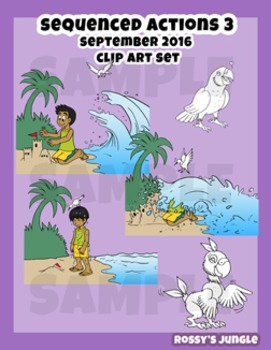 Kids Clip art: Sequenced actions 3 (September 2016)