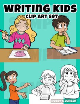 Kids Clip art: Writing or taking notes