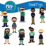"Fry Sketch - Kids Clipart - ""Small Frys"""