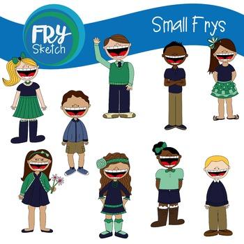 "Fry Sketch - Kids Clipart - ""Small Frys"""