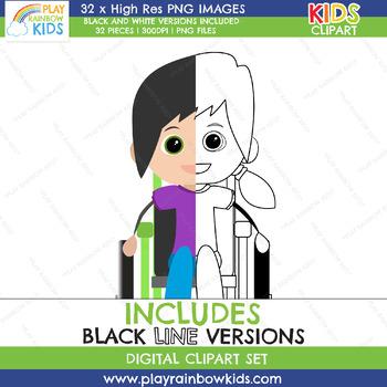 Kids Diversity Clipart
