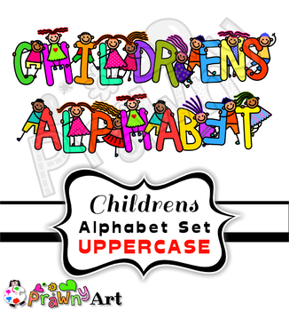 kids clipart font alphabet letters by prawny teachers pay teachers rh teacherspayteachers com clipart alphabet letters clipart alphabet letters