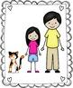 Kids Clipart - My Family Clip Art Set 3