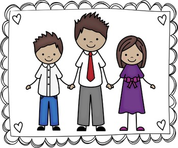 Kids Clipart - My Family Clip Art Set 4