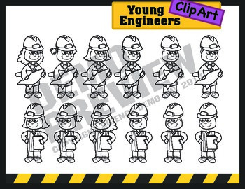 Kids Clipart: STEM Engineers