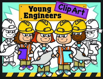 Kids Clipart: Young Engineers