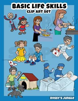 Kids Clipart set: Life Skills