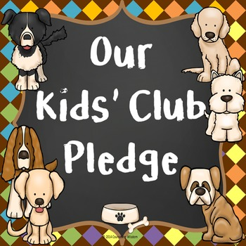 Kids' Club Pledge Classroom Management for School Counselor or Teachers
