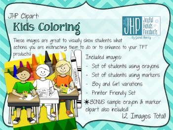 Kids Coloring Clipart