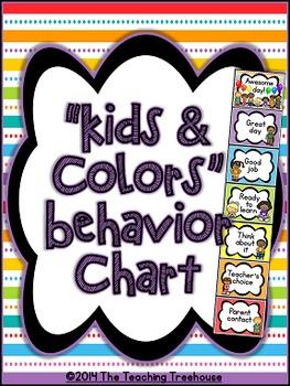 """Kids & Colors"" Behavior Clip Chart"