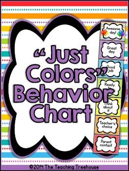 """Just Colors"" Behavior Clip Chart"
