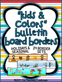 """Kids & Colors"" Bulletin Board Borders ~ Holidays & Seasonal"