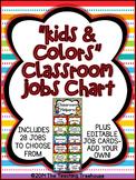 """Kids & Colors"" Classroom Helpers Clip Chart ~ Jobs Chart"