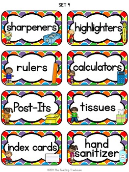 """Kids & Colors"" Classroom Supply Labels"