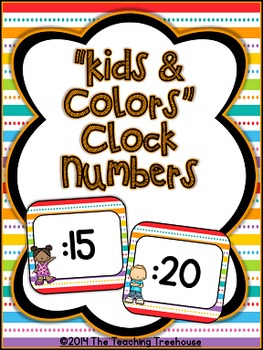 """Kids & Colors"" Clock Numbers"