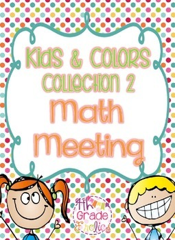 Kids & Colors Collection 2 Math Meeting