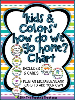"""""""Kids & Colors"""" How Do We Go Home? Clip Chart"""