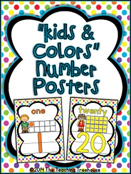 """Kids & Colors"" Number Posters"