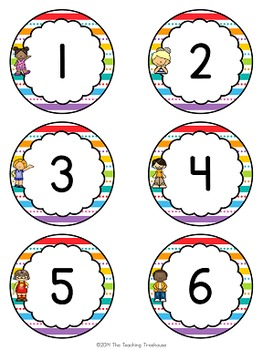 """Kids & Colors"" Numbers 1-120"