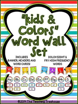 """""""Kids & Colors"""" Word Wall"""