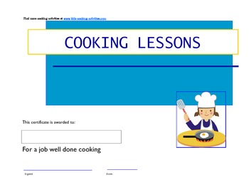 Kids Cooking Certificates