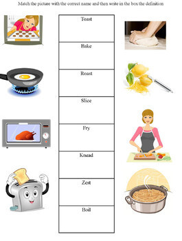 Cooking Vocabulary Terms- Cooking with Kids