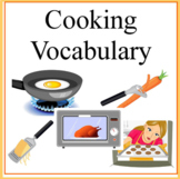 Cooking Vocabulary Terms Worksheets- Cooking with Kids