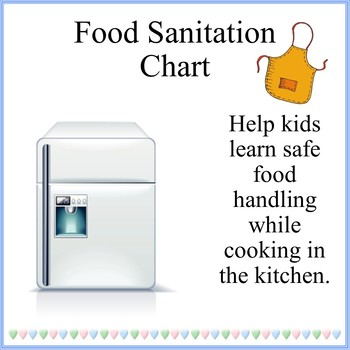 Cooking With Kids Food Sanitation Chart By Debbie Madson  Tpt