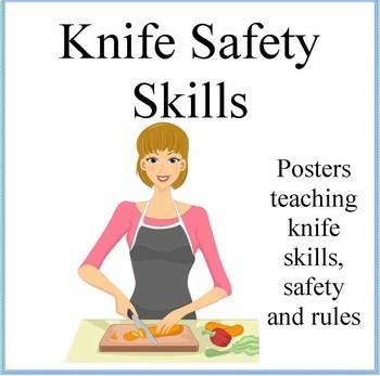 Kids Cooking-Knife Safety Skills Poster
