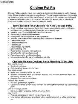Kids Cooking Parties -Step by Step Planning Guide for Cooking Classes or Parties