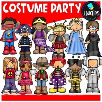 Costume Party Clip Art Bundle {Educlips Clipart}