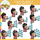 Kids Counting Bubbles Clip Art