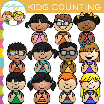 Kids Counting Clip Art