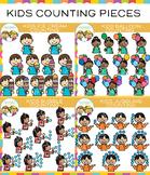 Kids Counting Pieces Clip Art Bundle