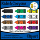 Kids & Crayons Clipart