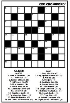 Kids Crossword 01