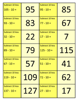 Jubilee's Junction - ADD & SUBTRACT 10s and 100s more/less Grade 2