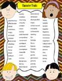 Jubilee's Junction - CHARACTER TRAITS 2-Page Descriptive Words!