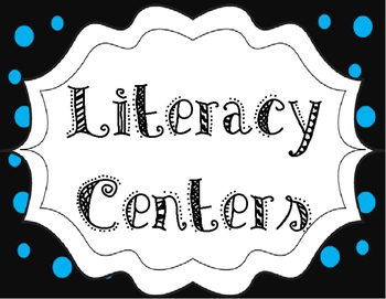Jubilee's Junction - LITERACY CENTERS ROTATIONS Posters Set/18