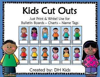 Kids Cut Outs - Blue Style