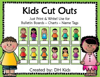Kids Cut Outs - Green Style