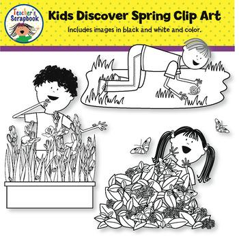 Kids Discover Spring Clip Art