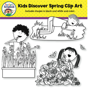 Kids Discover Spring Clip Art