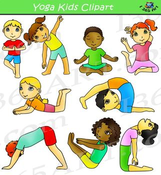 Kids Doing Yoga Clipart