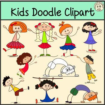Kids Doodle Clipart