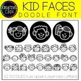 Kids Doodle FONT {Creative Clips Clipart}